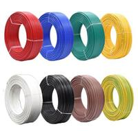 BV0.5 mm square meters tinned anaerobic pure copper single strand hard wire BV 0.5mm PVC insulated wire AV 0.8 mm Electric cable