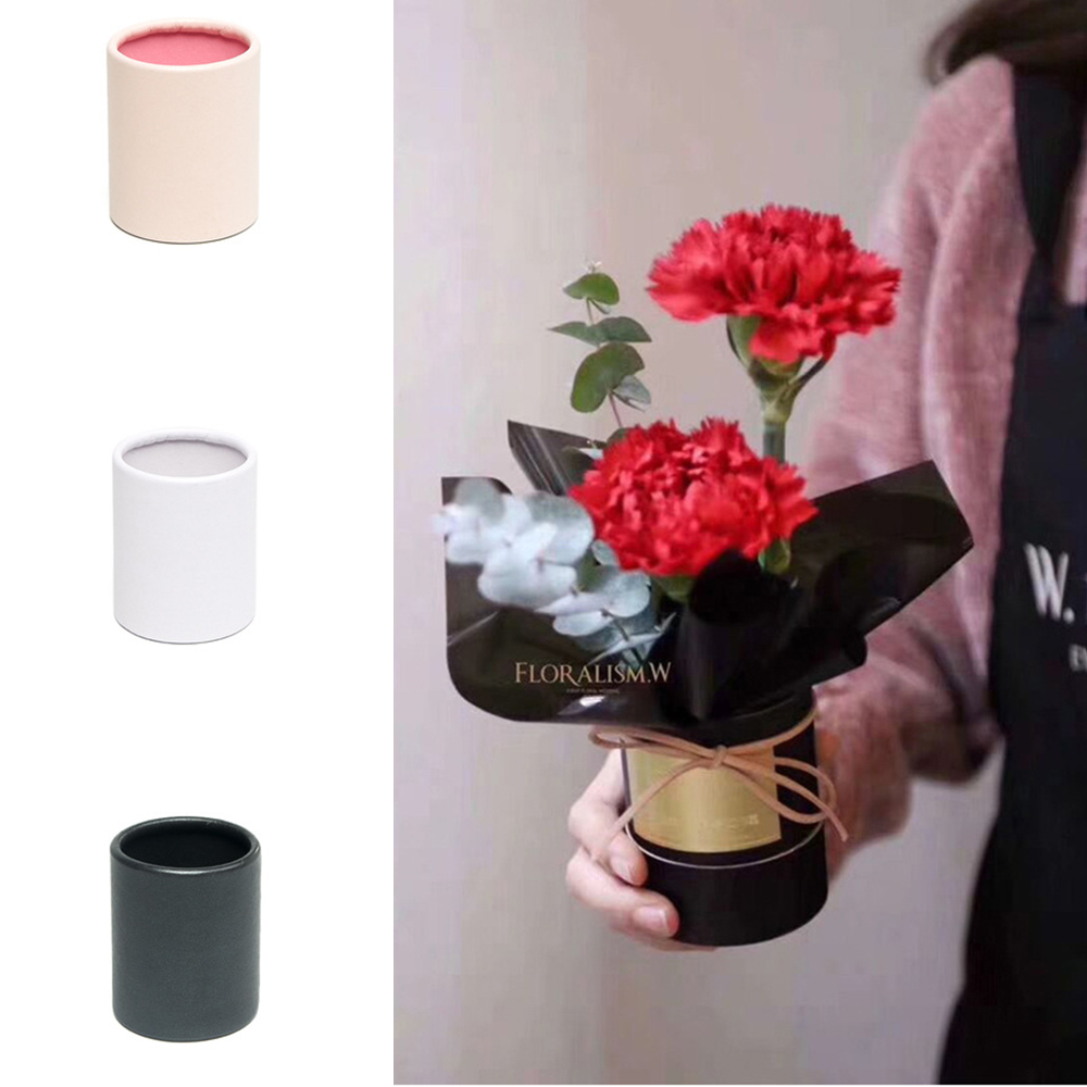 Mini Portable Flower Box Thickened Paper Handy Gift Bag Kraft Handbag Wedding Rose Party Gift Box Packaging For Birthday Party