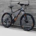 Горный велосипед 26 дюймов из алюминиевого сплава с переменной скоростью внедорожный двойной дисковый тормоз для взрослых студентов мужчин...