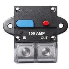 100a 200a 250a 300a carro reinicializável disjuntor auto-recuperação fusível botão de reset manual disjuntor fusível acessórios do carro