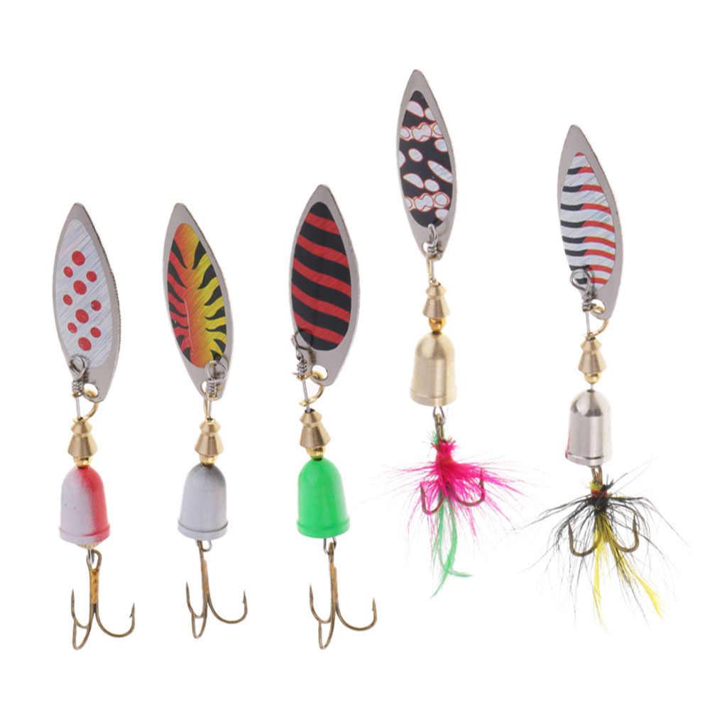 5 piezas Spinnerbait Señuelos de Pesca SPINNER cebo cucharas lentejuelas Crankbaits señuelos para Bass/trucha/salmón/Walleye/ percha