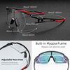ROCKBROS Photochromic Cycling Glasses Polarized Built-in Myopia Frame Sports Sunglasses Men Women Glasses Cycling Eyewear Goggle 4