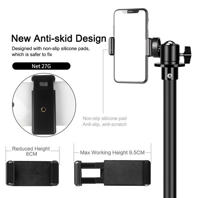 Tripod For Phone Tripod Stand Ring Light  1/4 Screw Head Flexible Selfie With Bluetooth Remote Control  Holder For Phone 3