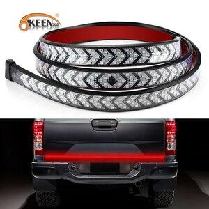 Image 1 - OKEEN Car LED Pickup Arrow Red LED Flowing Yellow Turn Signal Lamp Scanning Brake LED Light Bar 100cm Reverse Tail Light Strip