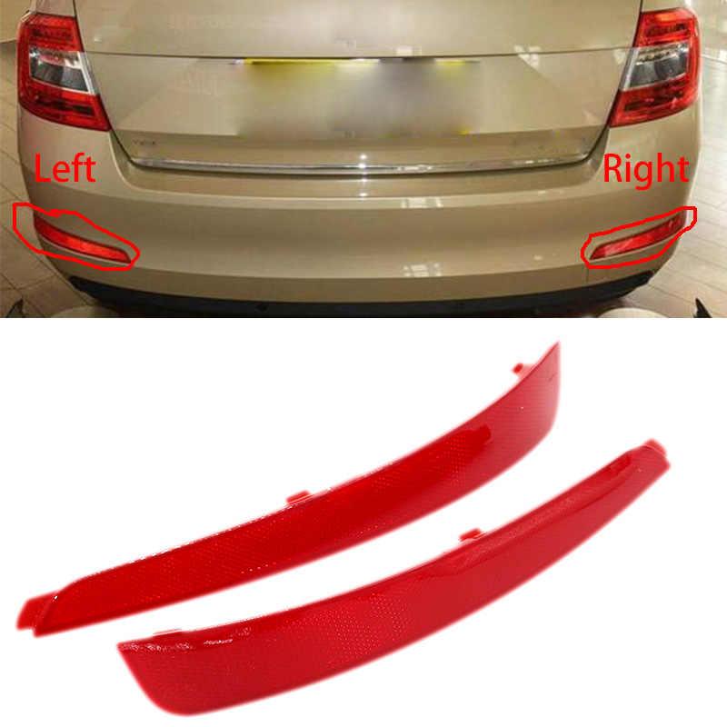 HGY Skoda Octavia Bumper Reflectors,1 pair ABS Left Right Rear Bumper Reflector for Skoda Octavia 10-14