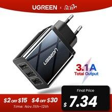 Ugreen usb充電器xs × 8 7 高速電話充電器サムスンxiaomi huawei社壁の充電器euアダプタ携帯電話充電器