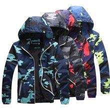 Куртка бомбер мужская с капюшоном модная Светоотражающая Водонепроницаемая
