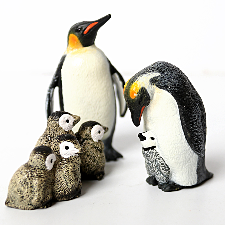 Simulation Penguin Models Figurines,Polar Arctic Animal Figures Antarctic Set,Easter Eggs Cake Toppers Christmas Birthday Gift 1