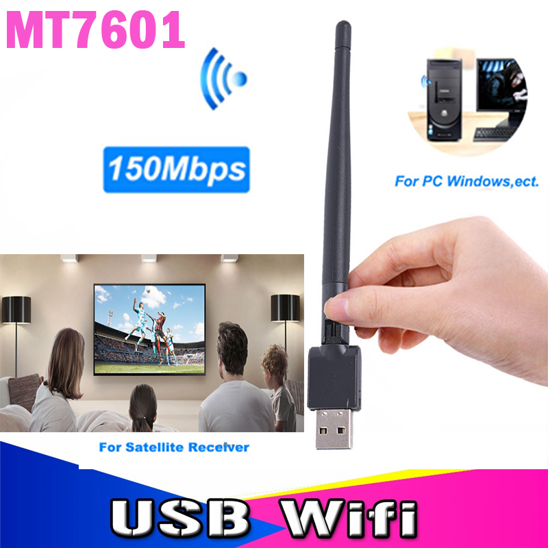 Wireless USB Wifi Adapter MT7601 Antenna for D1S D4S Satellite TV Receiver PC