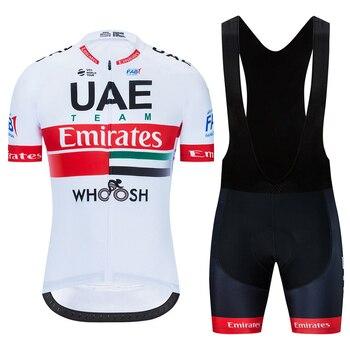 Team UAE-ropa de ciclismo, camisetas de ciclismo, conjuntos de gel con pechera...