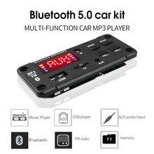 Reproductor MP3 y Radio para coche Bluetooth 5,0, placa decodificadora de 5V 12V, manos libres, compatible con grabación de FM, TF, tarjeta SD, AUX con micrófono, módulo de Audio