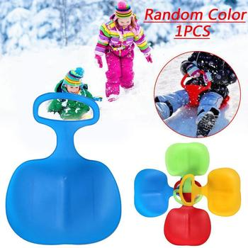 Children's Ski Film Winter Sports Sled Sledge Skiing Sand Gifts Sleigh Slider Outdoor Interesting Winter Grass Board K O1T6 image