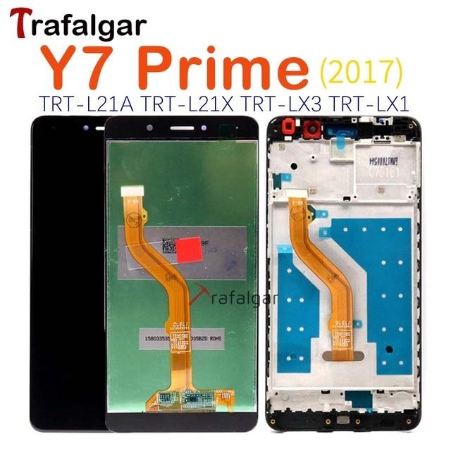 Trafalgar pantalla táctil LCD para HUAWEI Y7 2017, con marco TRT L21, LX1, LX2, LX3