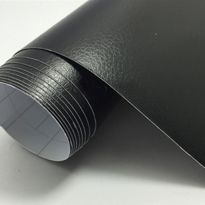 Buena textura de cuero negro textura de vinilo para el coche etiqueta adhesiva lámina adhesiva pegatina Interior para el coche