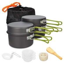Ультралегкая посуда для кемпинга набор посуды отдыха на природе