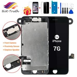 Image 1 - 1Pcs OEM LCD עבור iPhone 7 8 7 8 בתוספת תצוגת סט מלא Digitizer עצרת 3D מגע החלפת מסך + מצלמה קדמית + רמקול