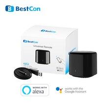 Broadlink RM4 2020, Универсальный ИК пульт дистанционного управления Bestcon RM4C, 4G, Wi Fi, совместимый с Alexa Google Assistant умный дом