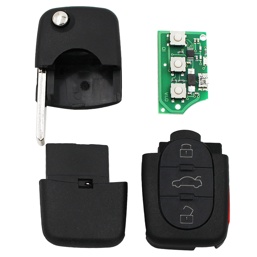Folding Remote Key 3+1 Button 315MHz For Volkswagen 1J0 959 753 F With ID48 Chip