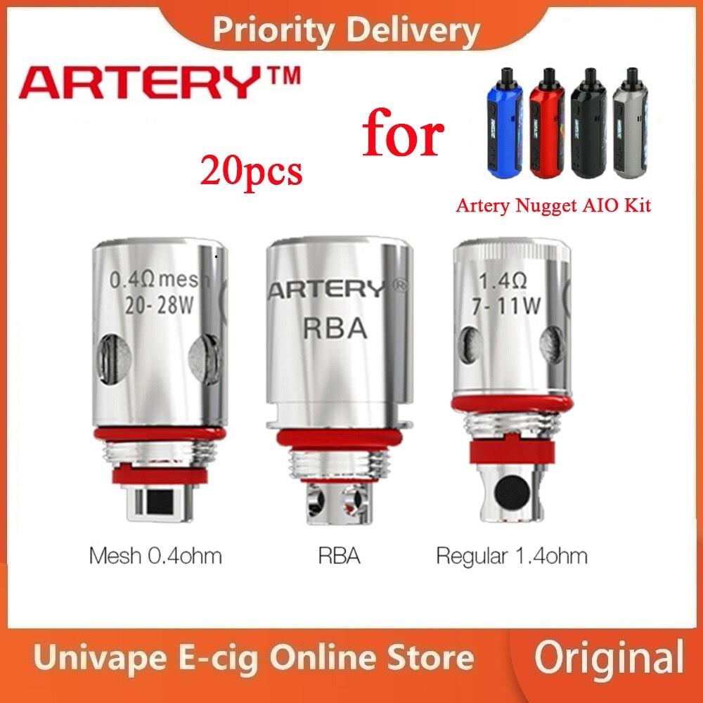 Original Artery Nugget AIO Coil & HP Mesh 0.4ohm/ HP Regular 1.4ohm /RBA Coils For Artery Nugget Kit Ecig Vaporizer VS Pal 2 Pro