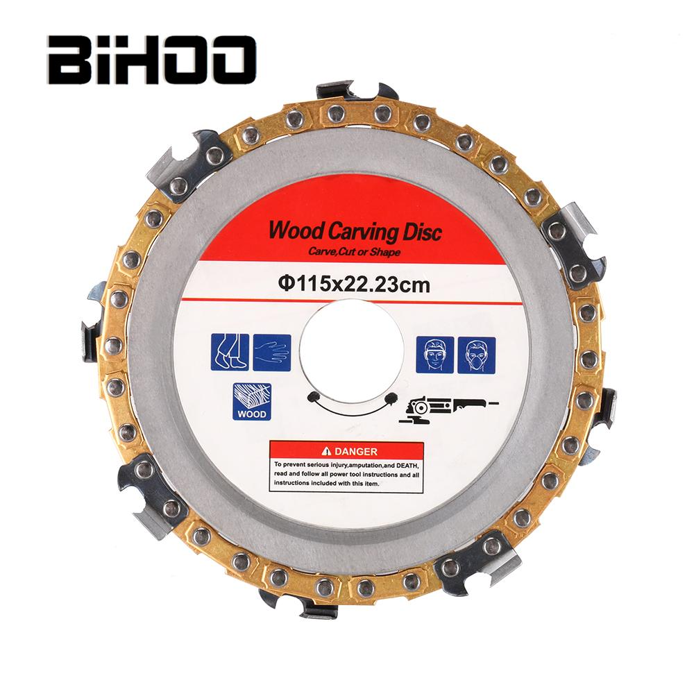 115/125MM Angle Grinder Disc Chain Saw For Wood Carving Culpting Plastic Tool
