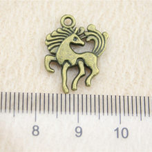 Retail Display 1 Piece 18x25mm Horse Charms Charms For Bracelet Making Handmade Gifts Crafts(China)