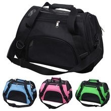Pet Travel Bags Carrier-Bag Cage Breathable Mesh Foldable Crossbody