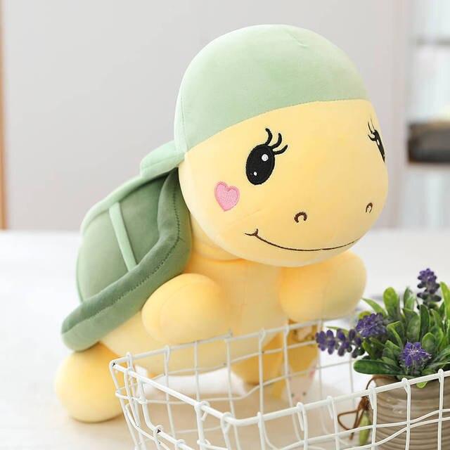 25-45cm Sea Turtle Plush Toys Pillow Tortoise Soft Ocean Animals Doll sofa Backrest cushion Home Decoration 100% cotton