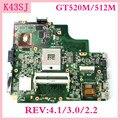 K43SJ Mainboard N12P GV B A1 GT520M/512 M REV4.1/3 0/2 2 Für Asus A43S X43S K43S P43S K43SM K43SV k43SJ Laptop Motherboard Getestet-in Laptop-Hauptplatine aus Computer und Büro bei