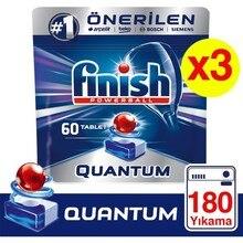 Finish Quantum 180 Tablet Dishwasher Detergent (60x3)