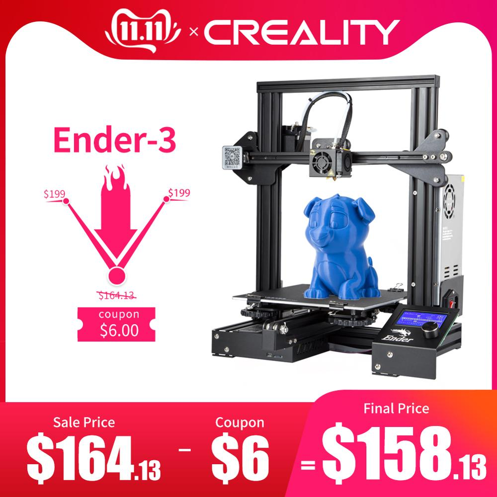 CREALITY 3D Printer Ender 3/Ender 3X Tempered Glass Optional,V slot Resume Power Failure Printing DIY KIT Hotbed-in 3D Printers from Computer & Office