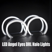 LED Angel Eyes DRL Halo Daytime Running Car Lights DTM Style For BMW E46 M3 E36 E38 E39 Series Xenon Halogen Projector Headlight цены