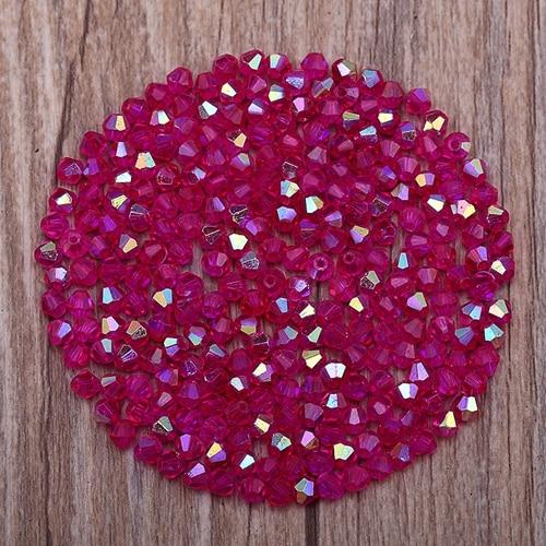 Яркие фиолетовые AB 4 мм 100 шт Австрийские хрустальные биконусные бусины 5301 свободные хрустальные бусы ожерелье браслет ювелирные изделия ручной работы S-61 - Цвет: 26