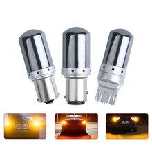 Yüksek güç LED S25 1156 BA15S P21W T20 7440 W21W 1157 BAY15D P21 5W 21W araba led dönüş sinyal ışıkları canbus otomatik fren lambası 12-15v