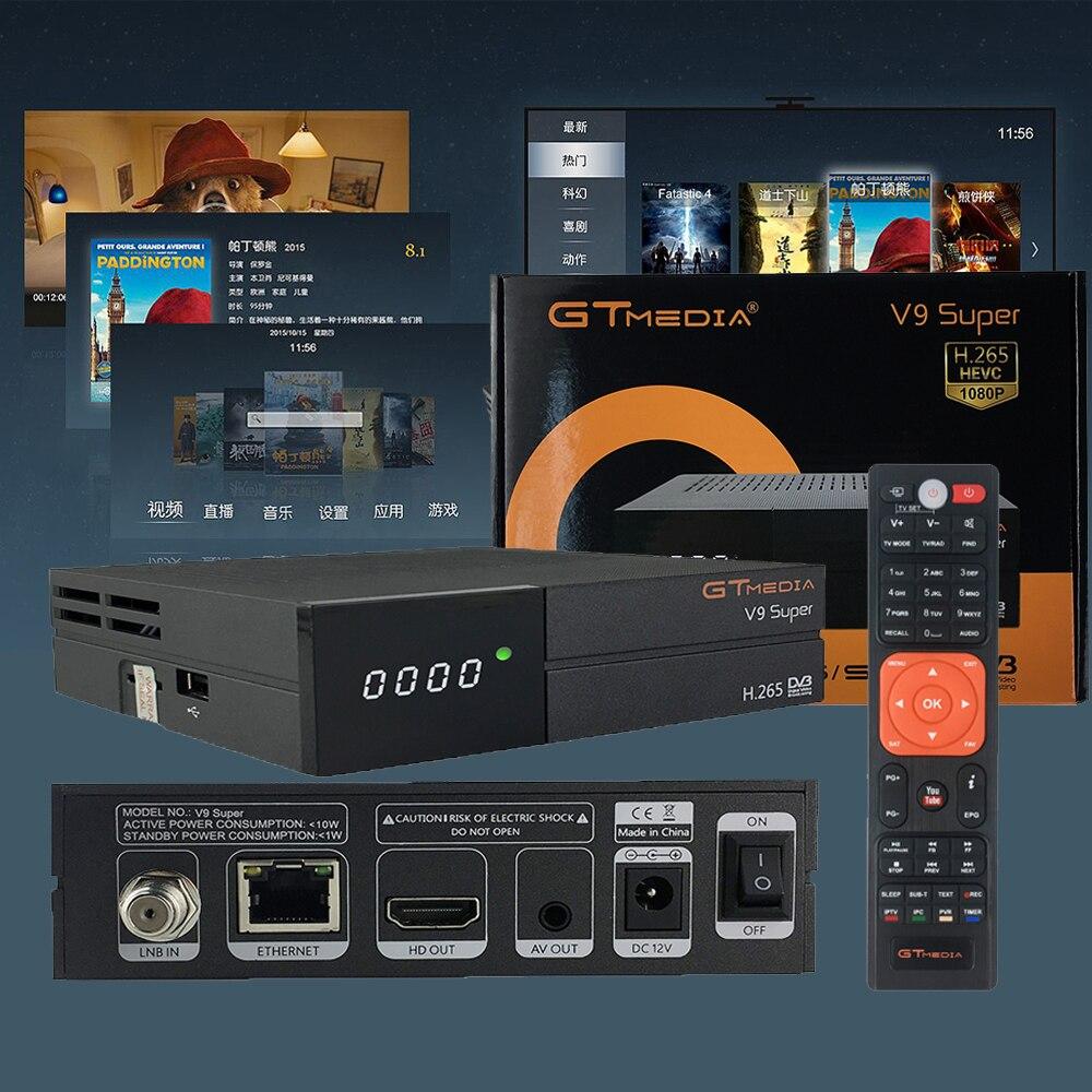 GTmedia V9 Super plus que Freesat V8 Super V8 NOVA DVB-S2 récepteur récepteur de télévision par Satellite décodeur + 2 ans 7 lignes CCcam européenne