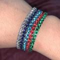 Изысканные теннисные браслеты для женщин регулируемые многоцветные циркониевые Свадебные Рождественские ювелирные изделия оптом модные ...