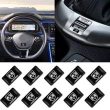 10 штук карбон волокно маленький автомобиль логотип наклейки для уловок Challenger RAM 1500 зарядное устройство Avenger калибр нитро авто автомобиль аксессуары