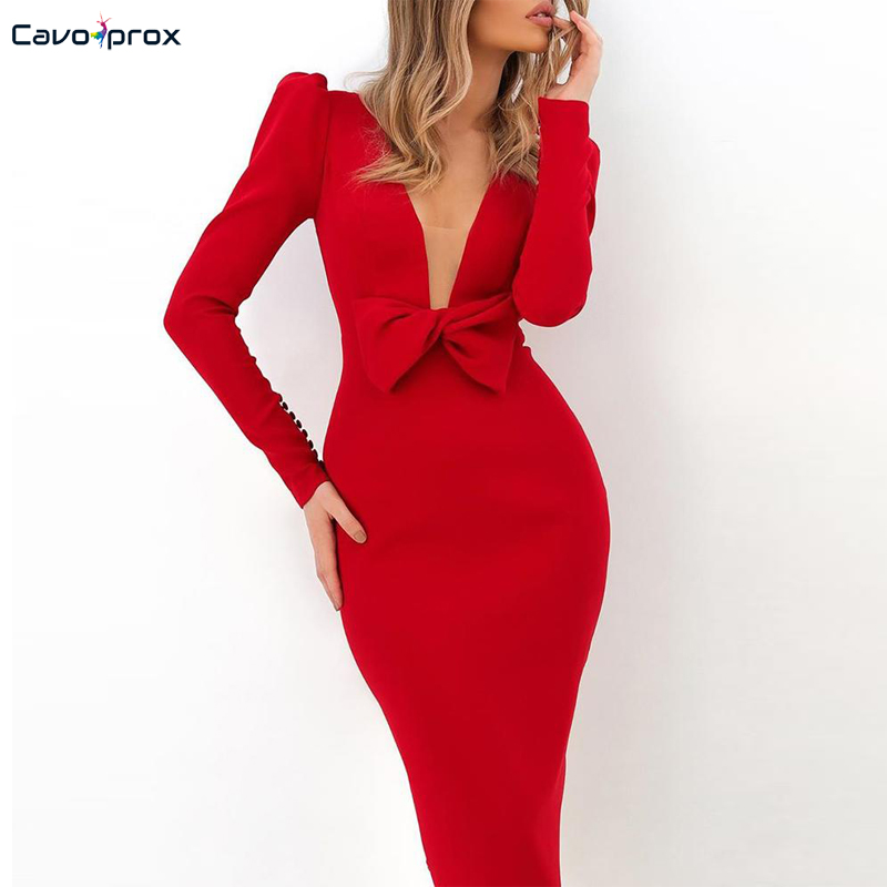 Solid Puff Sleeve Butterfly Design Bodycon Dress