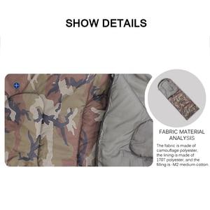 Image 5 - спальный мешок Конверт тип спальный мешок сращивание камуфляж военный портативный открытый походный спальный мешок светильник осенний кемпинг спальное снаряжение