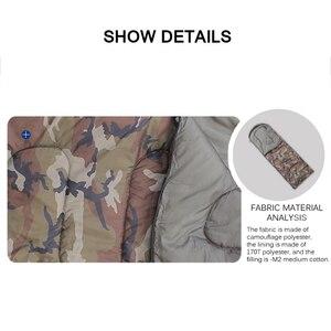 Image 5 - Umschlag Art Schlafsack Spleißen Camouflage Military Tragbares Outdoor Wandern Schlafsäcke Licht Herbst Camping Schlaf Getriebe