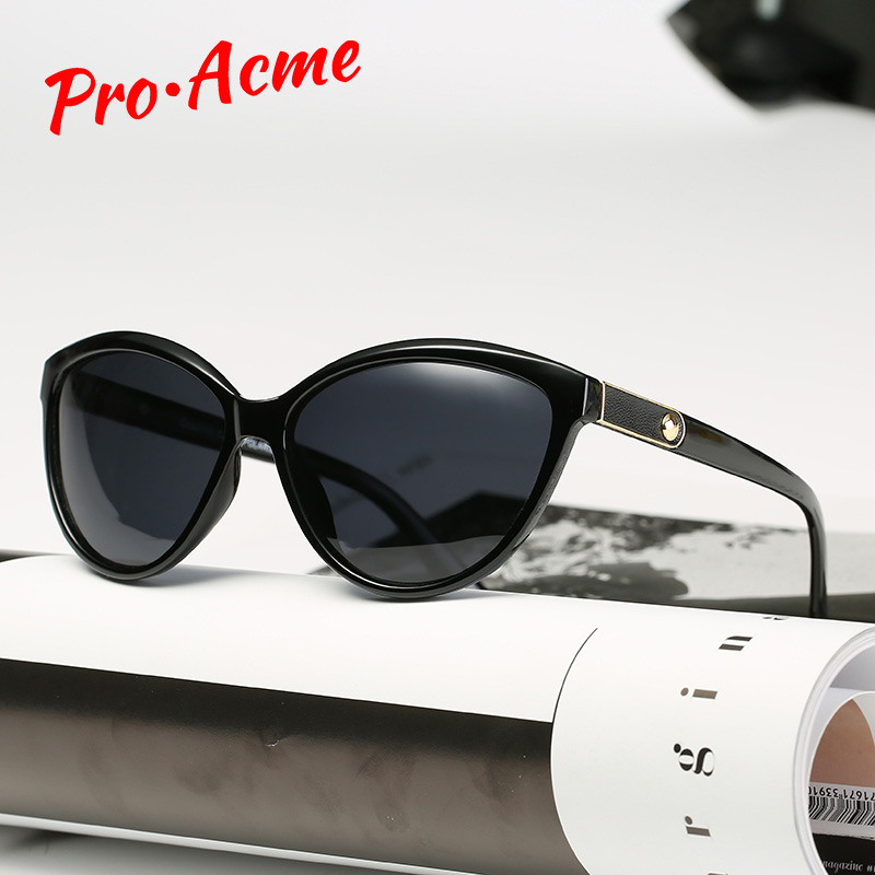 Pro acme retro olho de gato óculos de sol polarizados senhora elegante feminino óculos de condução lunette soleil femme pb1223
