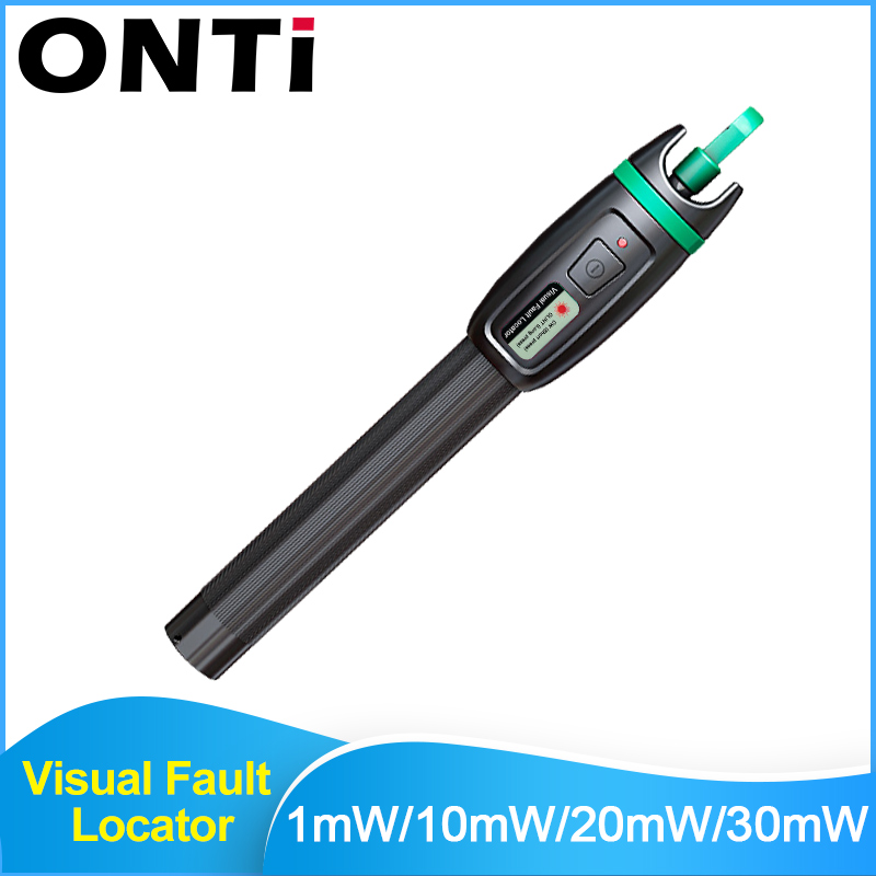 ONTi High Quality Visual Fault Locator 1mW 10mW 20mW 30mW Red Light Fiber Optic Cable Tester 5-30KM Range