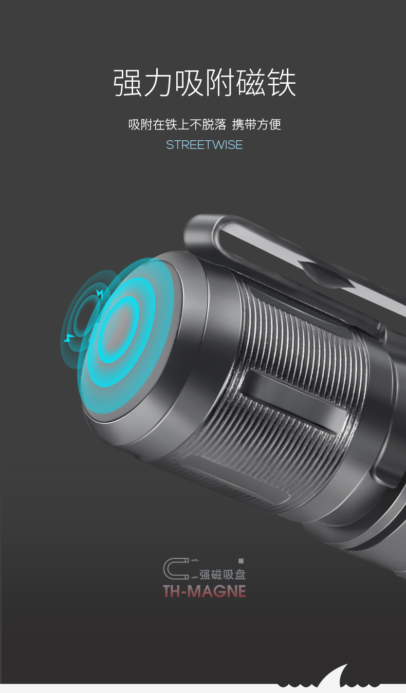 casa zoomable lanterna recarregável men 50000 lumens