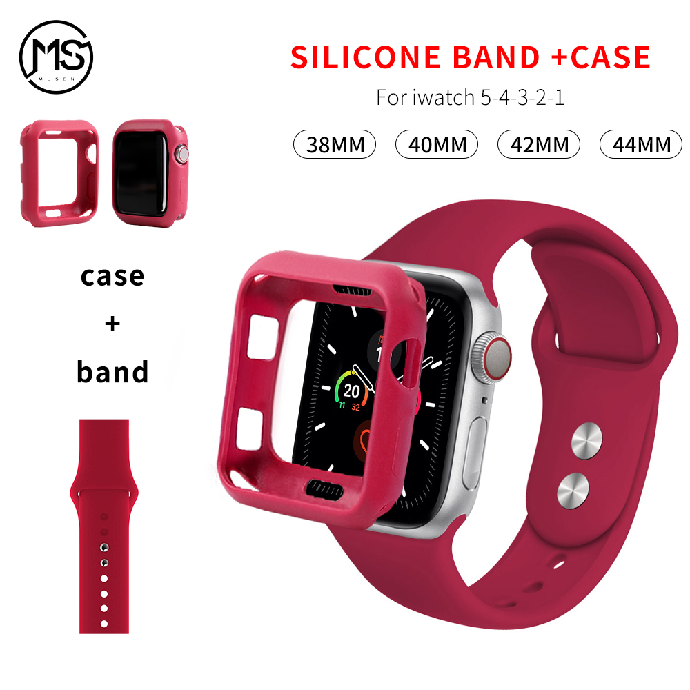 Band+Case For Iwatch Series 5 4 44mm 40mm Replaceable Bracelet Strap For Apple Watch Strap Series321 42mm 38mm Watch Accessories