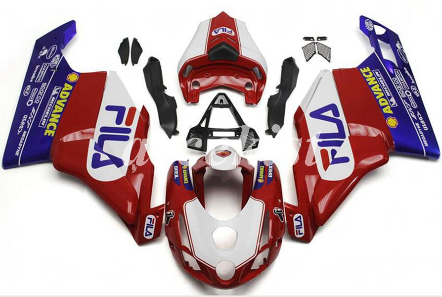 High Quality New ABS Motorcycle Fairing Kit Fit For Ducati 749 999 03 04 2003 2004 Injection Mold Fairings Set Red Blue