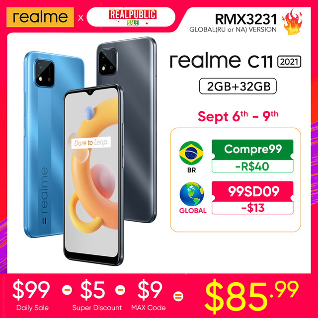 """realme C11 2021 2GB RAM 32GB ROM Global Version 5000mAh Battery 6.5"""" Large Display Support Multi Language Play Store NFC 1"""