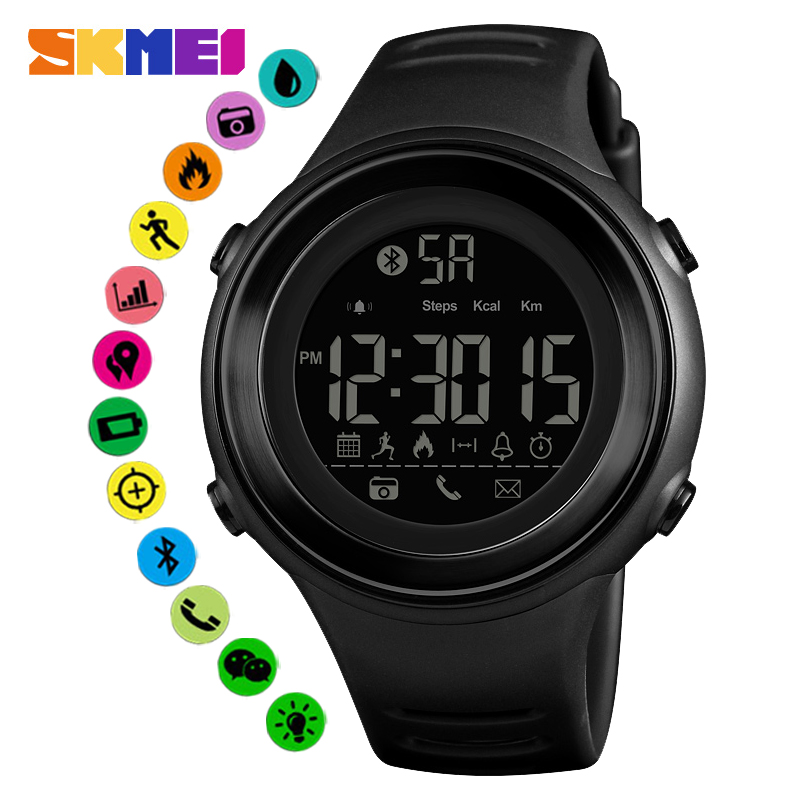 SKMEI Bluetooth Men Smartwatch Pedometer Call Remind Sport Smart Watches Intelligent Wristwatches For Android IOS New