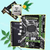 HUANANZHI X99 LGA2011-3 Paquete de placa base de descuento con M.2 NVMe ranura CPU Xeon E5 2680 V3 RAM 32G (2*16G) DDR4 2400