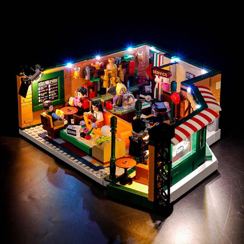 Vonado Creative Compatible LEGO 21319 Classic American Drama Friends Big Bang Theory Cafe LED Lighting Group Bricks Toys Gifts