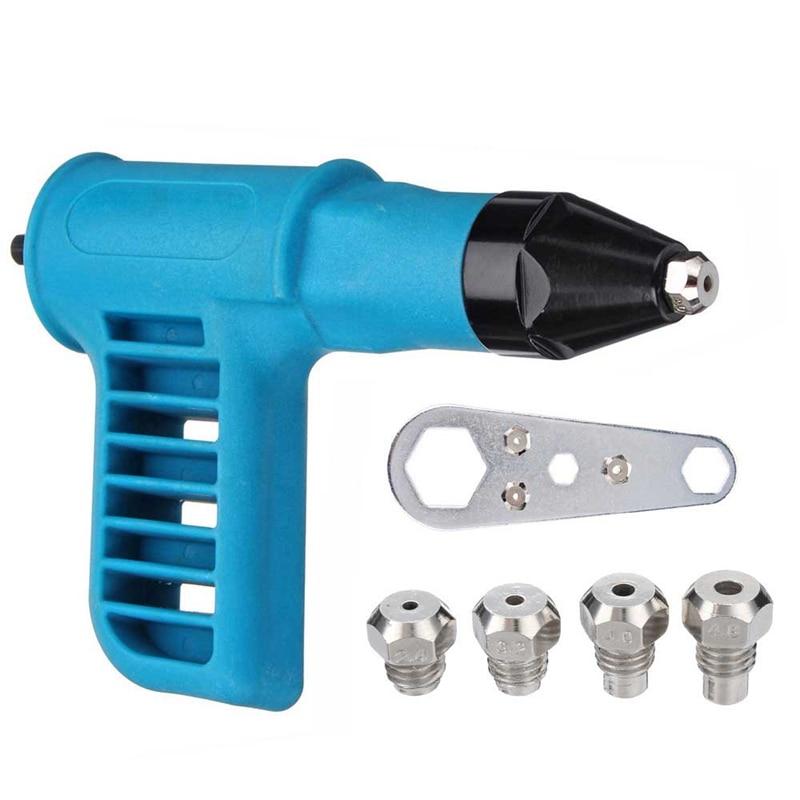 Top-Cordless Riveter Machine Electric Drill Tools Kit Riveter Adapter Insert Tool Riveting Drill Adapter 2.4Mm-4.8Mm