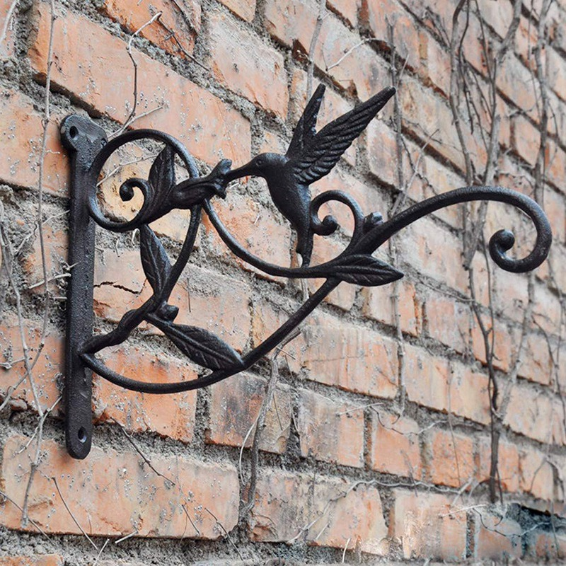 Cast Iron Plant Hooks Vintage Wall Hanging Brackets for Lanterns Planters Flower Pot Baskets Wind Chimes Wind Spinners Bird Feed|Hooks & Rails| |  - title=